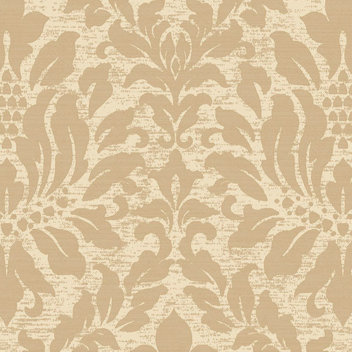 SD36142 Patton Wallcoverings Stripes and Damasks 3 Linen Acanthus Wallpaper Tan