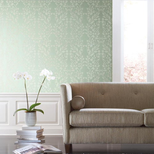 York Wallcoverings Candice Olson Decadence Botanica Wallpaper Roomset