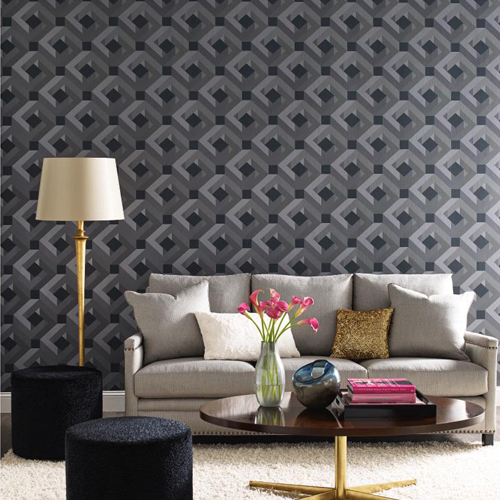 York Wallcoverings Candice Olson Decadence Network Wallpaper Roomset