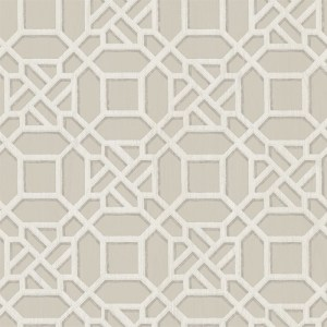 3112-002713 Brewster Wallcoverings Chesaspeake Sage Hill Adlington Geometric Wallpaper Grey