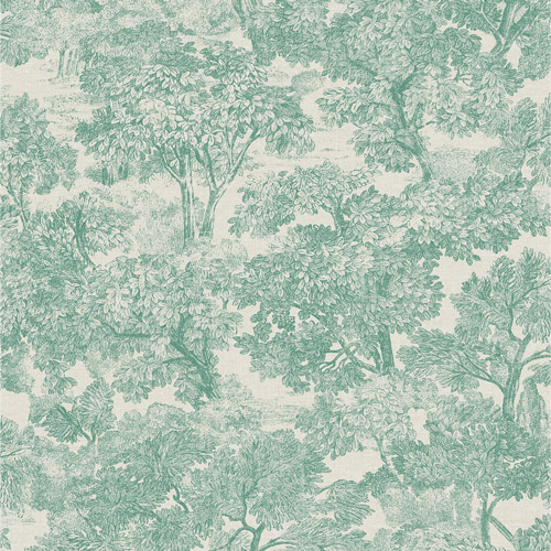 3112-002720 Brewster Wallcoverings Chesapeake Sage Hill Blyth Toile Wallpaper Teal