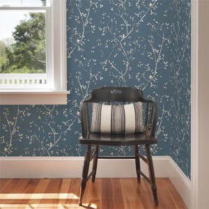 Brewster Wallcoverings Chesapeake Sage Hill Tadley Branch Wallpaper Roomset