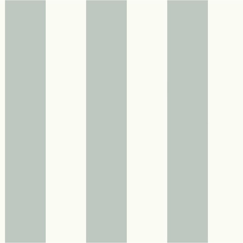 MH1586 York Wallcoverings Joanna Gaines Magnolia Home Awning Stripe Wallpaper Sage