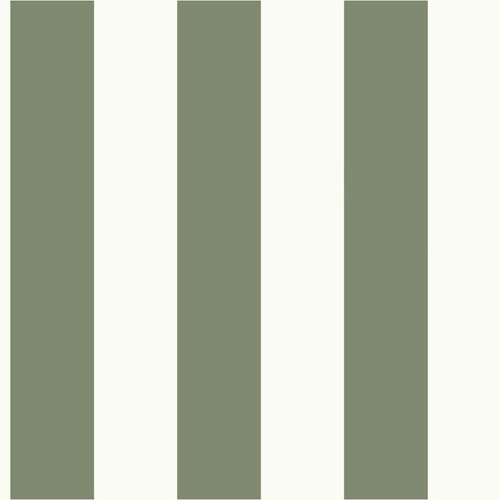 MH1588 York Wallcoverings Joanna Gaines Magnolia Home Awning Stripe Wallpaper Green