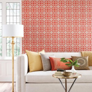 York Wallcoverings Williamsburg 3 Lamerie Lattice Wallpaper Roomset