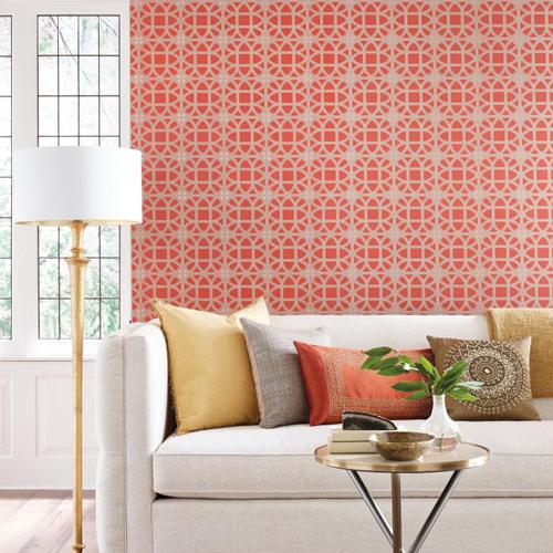 York Wallcoverings Williamsburg 3 Lamerie Lattice Wallpaper Roomset