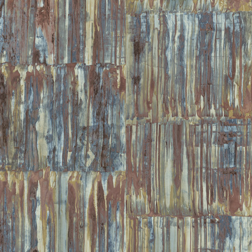 2540-24064 Brewster Wallcoverings A Street Prints Restored Patina Panels Wallpaper Multi