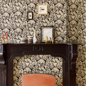 Brewster Wallcoverings Eijffinger Geonature Zorah Botanical Wallpaper Roomset
