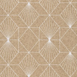 366081 Brewster Wallcoverings Eijffinger Geonature Halcyon Geometric Wallpaper Neutral