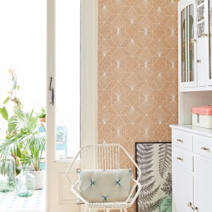 Brewster Wallcoverings Eijffinger Geonature Halcyon Geometric Wallpaper Roomset