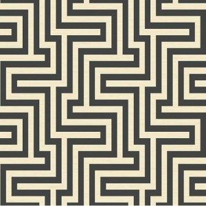 TA20400 Seabrook Wallcoverings Tortuga Martinique Wallpaper Black