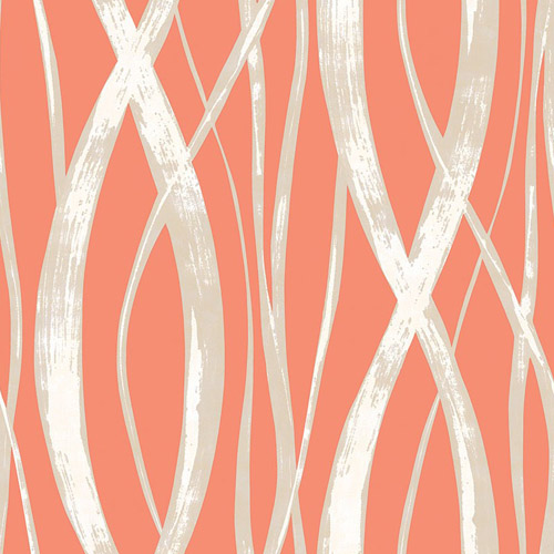 TA21106 Seabrook Wallcoverings Tortuga Barbados Wallpaper Orange