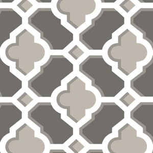 2744-24122 Brewster Wallcoverings Solstice Lido Quatrefoil Wallpaper Charcoal