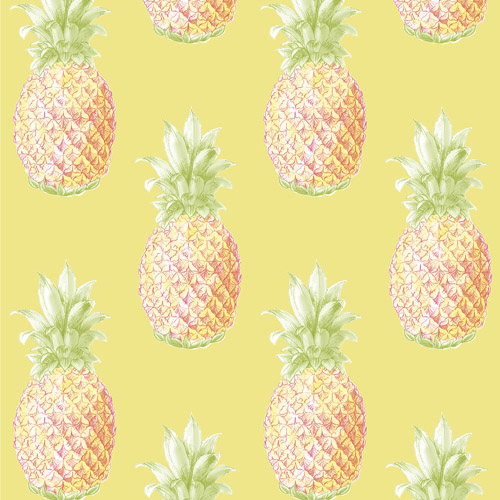 2744-24138 Brewster Wallcoverings Solstice Copacabana Pineapple Wallpaper Yellow