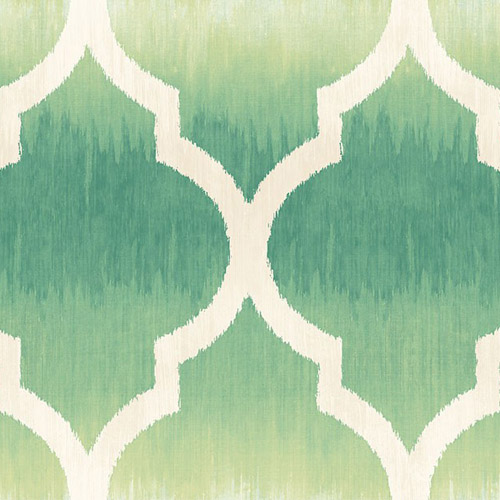 MT80404 Seabrook Wallcoverings Montage Catamount Ogee Wallpaper Turquoise