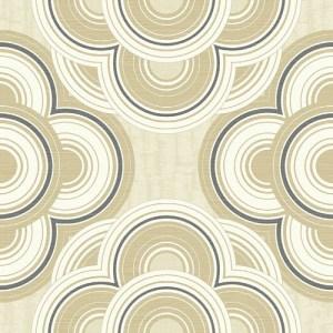 RL60005 Seabrook Wallcoverings Retro Living Gidget Wallpaper Tan