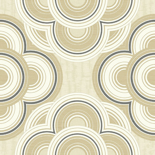 RL60005 Seabrook Wallcoverings Retro Living Gidget Wallpaper Tan