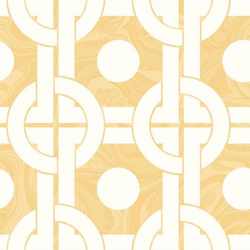 RL60805 Seabrook Wallcoverings Retro Living Mindy Wallpaper Tan
