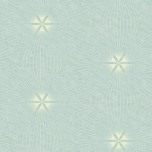 RL61104 Seabrook Wallcoverings Retro Living Lucy Wallpaper Aqua