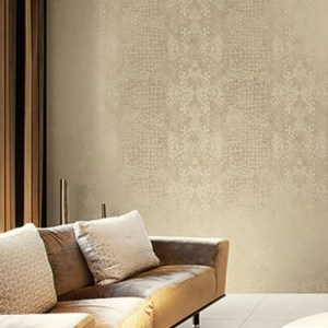 Seabrook Wallcoverings Modena Animal Skin Wallpaper Roomset