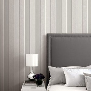 Seabrook Wallcoverings Modena James Stripe Wallpaper Roomset