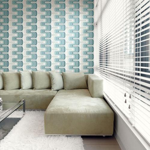 Seabrook Wallcoverings Retro Living Fonzie Wallpaper Roomset