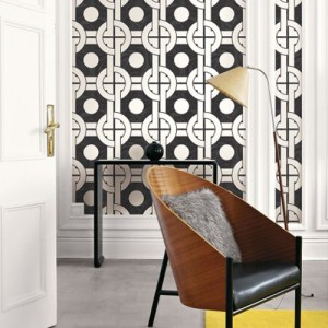 Seabrook Wallcoverings Retro Living Mindy Wallpaper Roomset