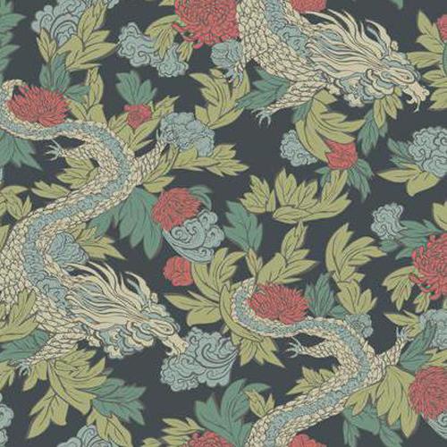 Ming Dragon Wallpaper from Dwell Studio Wallpaper Book by York