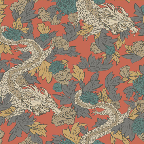 Ming Dragon Wallpaper From Dwell Studio Wallpaper Book By York