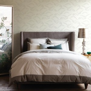 York Wallcoverings Dwell Studio Cloudburst Wallpaper Room Setting