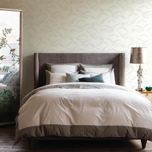 York Wallcoverings Dwell Studio Cloudburst Wallpaper Room Setting