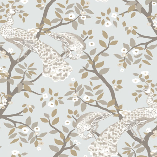 DR6322 York Wallcoverings Dwell Studio Plumes Wallpaper Gray
