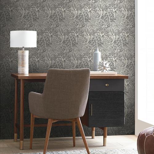 York Wallcoverings Dwell Studio Miyuki Wallpaper Room Setting