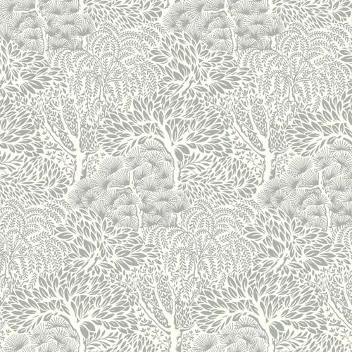 DR6340 York Wallcoverings Dwell Studio Miyuki Wallpaper Gray