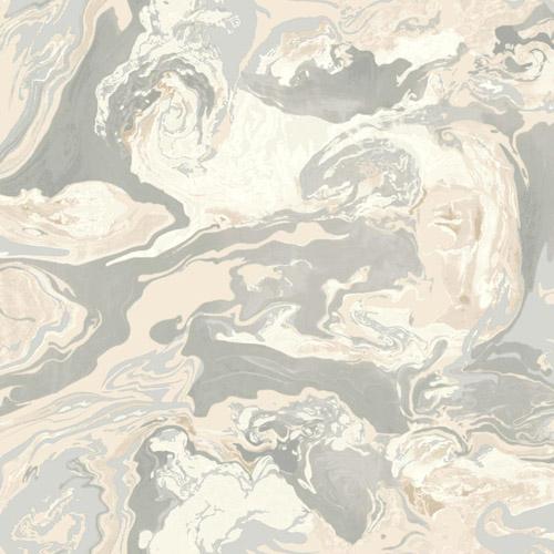DR6350 York Wallcoverings Dwell Studio Medici Marble Wallpaper Gray