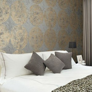Seabrook Designs Metalworks Fulton Wallpaper Room Setting