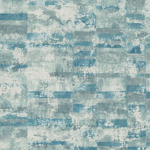 MW30402 Seabrook Designs Metalworks Gutenberg Wallpaper Blue