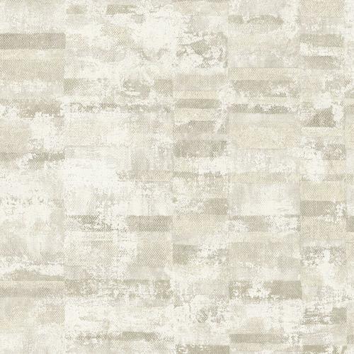 MW30405 Seabrook Designs Metalworks Gutenberg Wallpaper Gray
