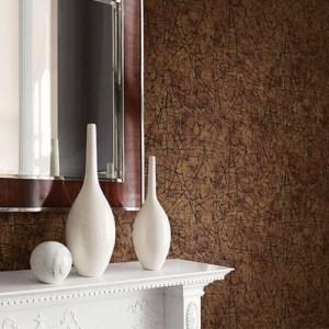 Seabrook Wallcoverings Jupiter Crackle Textured Wallpaper Room Setting