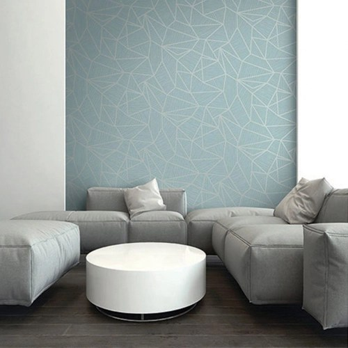 Seabrook Wallcoverings Jupiter Geometric Textured Wallpaper Room Setting