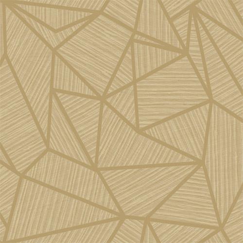 TE11305 Seabrook Wallcoverings Jupiter Geometric Textured Wallpaper Tan