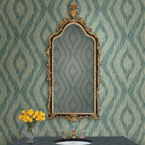 Brewster Wallcoverings A Street Prints Moonlight Ethereal Ogee Wallpaper Room Setting