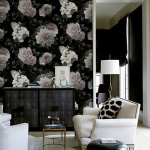 Brewster Wallcoverings A Street Prints Moonlit Wall Mural Room Setting