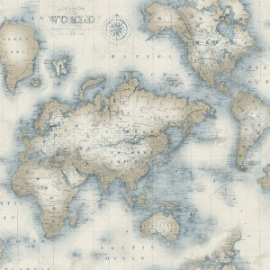 Mercator world map wallpaper from seaside living by brewster sale brewster wallcoverings chesapeake seaside living mercator world map wallpaper gumiabroncs Image collections