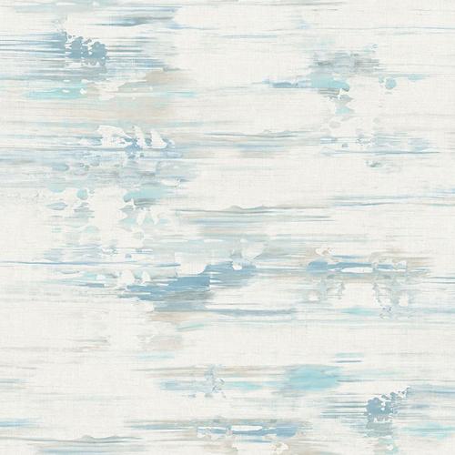 AH41102 Seabrook Wallcoverings L'Atelier de Paris Watercolor Brushstrokes Wallpaper Blue