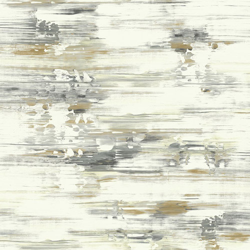 AH41105 Seabrook Wallcoverings L'Atelier de Paris Watercolor Brushstrokes Wallpaper Gray