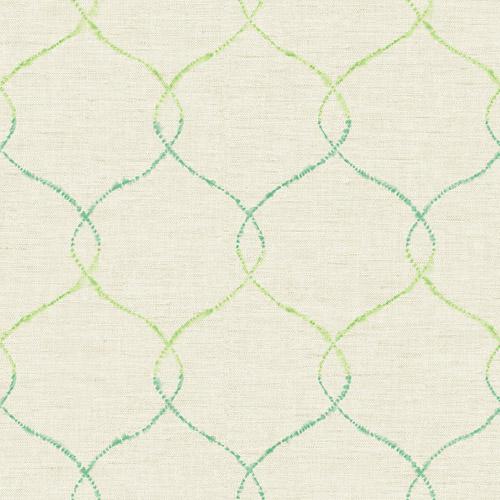 AH41601 Seabrook Wallcoverings L'Atelier de Paris Ogee Trellis Wallpaper Green