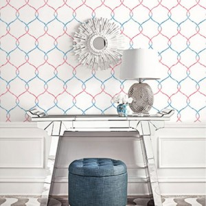 Seabrook Wallcoverings L'Atelier de Paris Ogee Trellis Wallpaper Room Setting