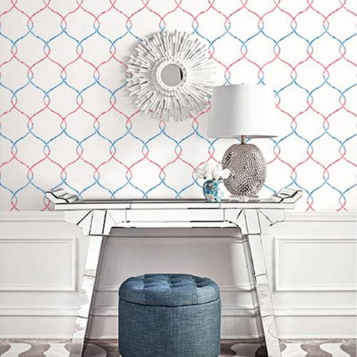 Seabrook Wallcoverings L'Atelier de Paris Ogee Trellis Wallpaper Room Setting