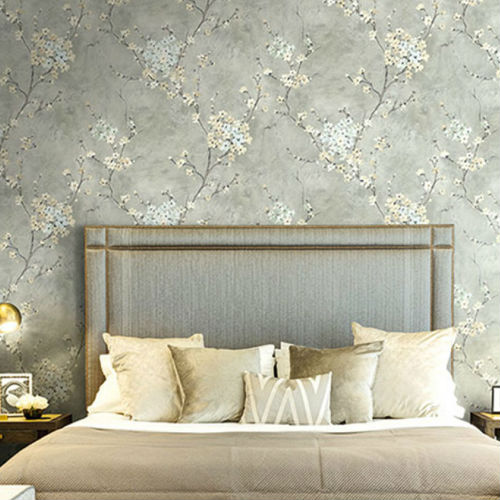 Seabrook Wallcoverings Carl Robinson Sea Glass Ogden Wallpaper Room Setting